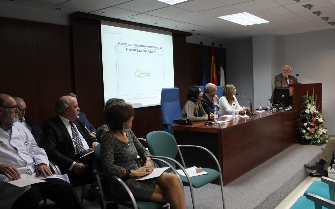 El Área Sanitaria Este de Málaga-Axarquía rinde homenaje a nueve profesionales por su compromiso, dedicación y esfuerzo