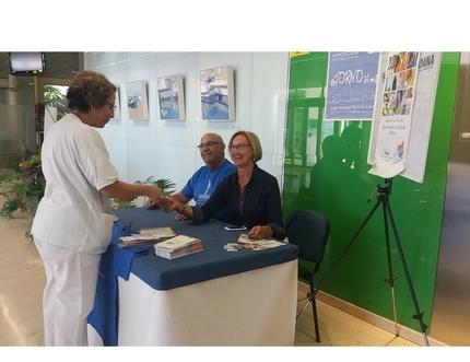 La Asociación de Trasplantados de Hígado de Málaga visita el Hospital Comarcal