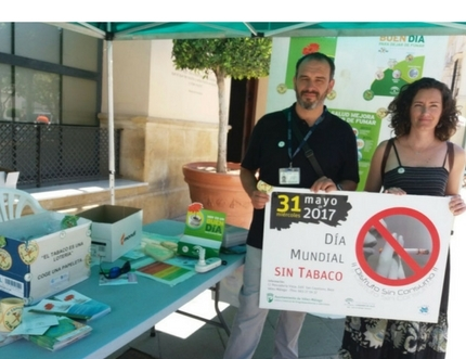 El Área Sanitaria Málaga-Axarquía celebra el Día Mundial sin Tabaco con múltiples actividades en el municipio