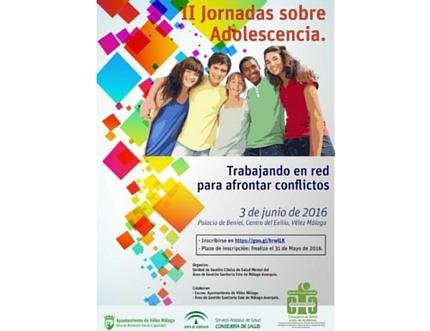 """El Área Sanitaria Axarquía organiza las """"II Jornadas sobre Adolescencia: trabajando en red para afrontar conflictos"""""""