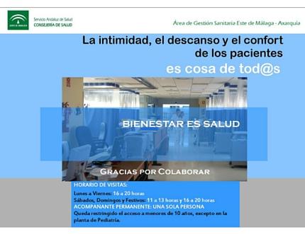 El Área Sanitaria Axarquía pone en marcha un Plan para garantizar la intimidad, el descanso y el confort de los pacientes