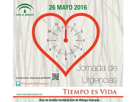 """La """"Jornada de Urgencias: Tiempo es Vida"""" se celebrará el próximo 26 de mayo en el Hospital de la Axarquía"""