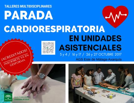 Ya puedes inscribirte en los talleres de actuación multidisciplinar ante situaciones de parada cardiorrespiratoria en unidades asistenciales
