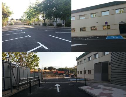 El Área Sanitaria Axarquía finaliza las obras de adecuación del parking de personal