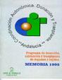 Portada de la Memoria 1.995 del Programa de detecci�n, extracci�n y trasplantes de �rganos y tejidos