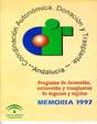 Portada de la Memoria 1.997 del Programa de detecci�n, extracci�n y trasplantes de �rganos y tejidos