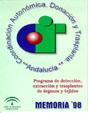 Portada de la Memoria 1.998 del Programa de detecci�n, extracci�n y trasplantes de �rganos y tejidos