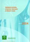 Portada de la Memoria 2004 del Programa de detecci�n, extracci�n y trasplantes de �rganos y tejidos