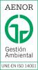 Certificado GA-2001/0039 de AENOR Avala la calidad del sistema integrado de Gestion Ambiental del Hospital Reina Sofia