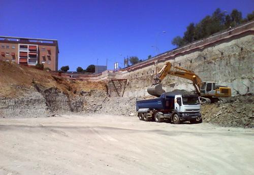 Otra vista de las obras en junio de 2009