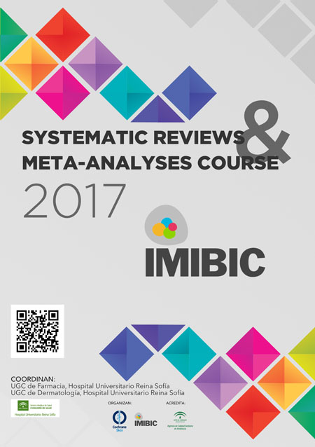 Cartel del evento systematic reviews & Meta-Analyses Course