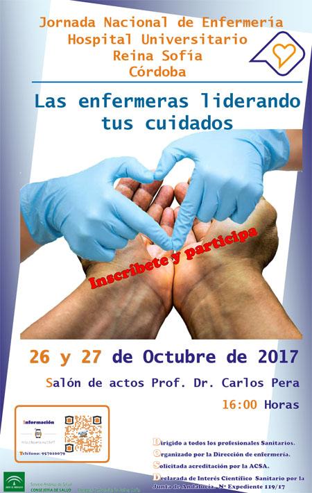 Cartel Jornada Nacional de Enfermeria. 26 y 27 de Octubre 2017