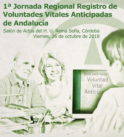 Cartel 1ª Jornada Regional Registro de Voluntades Vitales Anticipadas de Andalucía