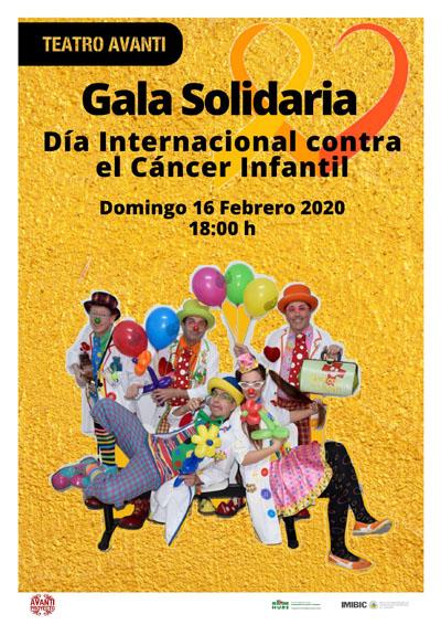 Cartel Gala Solidaria Día Internacional contra el Cáncer Infantil