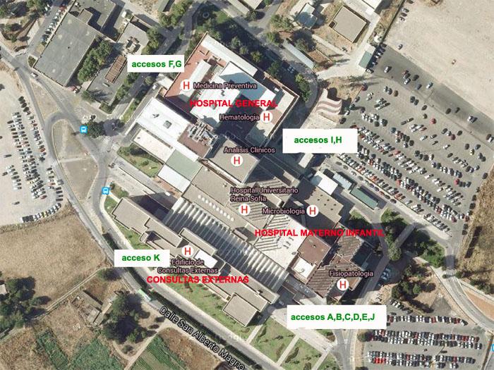 Mapa de acceso a los diferentes edificios