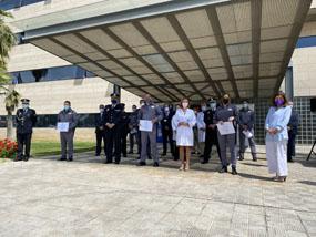 Entrega de menciones honoríficas a vigilantes de seguridad Hospital Reina Sofía