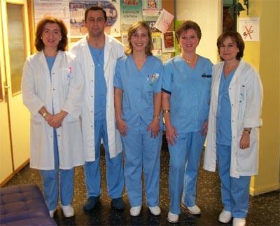 Profesionales sanitarios del hospital
