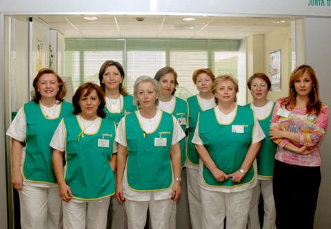 Profesionales cicerones del hospital