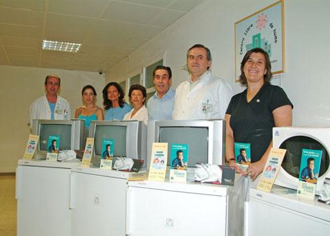 Representantes de la asociación de enfermos trasplantados de pulmón 'A pleno pulmón'