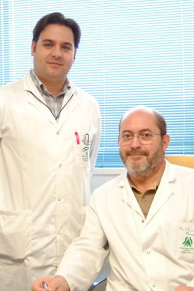 Los doctores José Carlos Moreno Giménez y Rafael Jiménez Puya