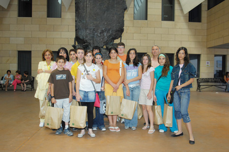 Alumnos en visita escolar