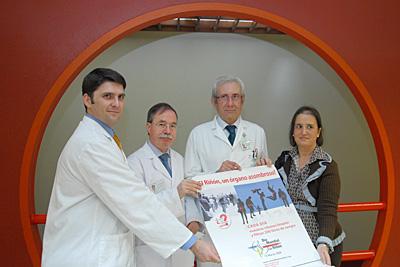 Nefrólogos del hospital durante la celebración  de esta jornada