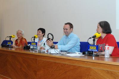 Carmen García, Lola Prieto, José Manuel León y Mª Dolores Ayllón