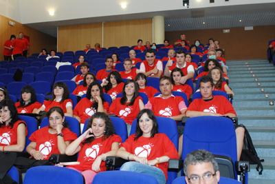 Algunos de los asistentes a la emisión del programa