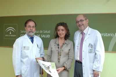 La delegada de Salud Isabel Baena, Manuel Garcia Carasusan y José Carlos Moreno
