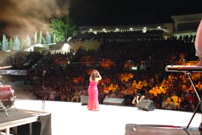 Mª José Santiago en el escenario