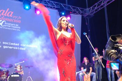 India Martínez durante su actuación