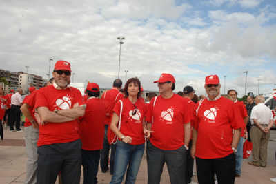 Participantes en la marcha