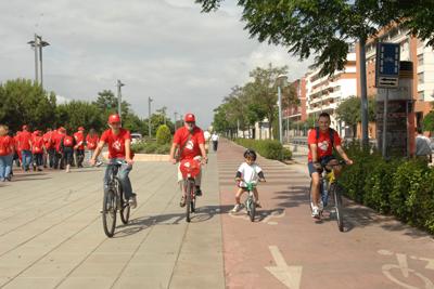Participantes en bici
