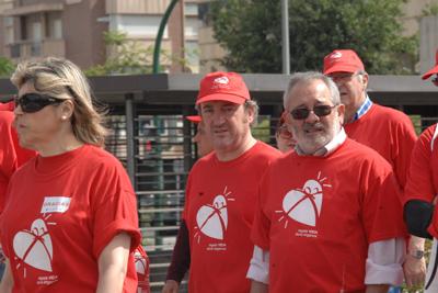 El gerente del hospital y el alcalde de Córdoba encabezan la marcha