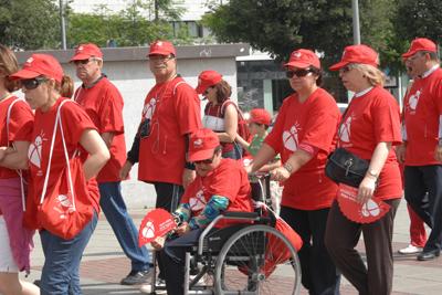 Participantes en el II Marcha por la Donación