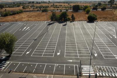 Foto del aparcamiento público tras la remodelación