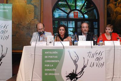 Antonio Varo, la delegada de Salud, el gerente del hospital y Pilar Sanabria