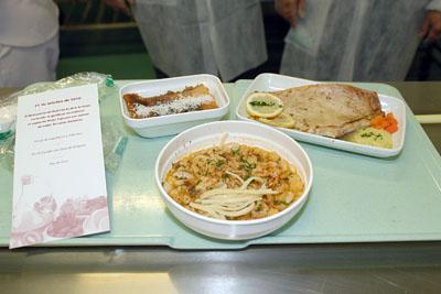 Menús realizados bajo las indicaciones del Círculo de la Amistad.