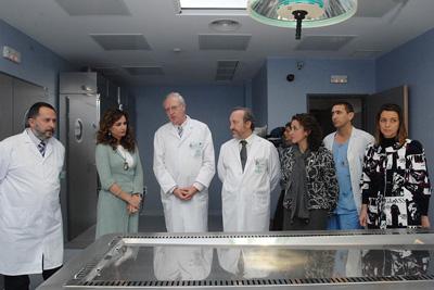 Recorrido por las instalaciones del nuevo servicio de Anatomía Patológica.