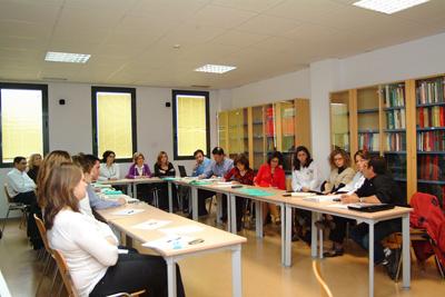 Alergólogos y otros expertos durante el desarrollo de las jornadas.