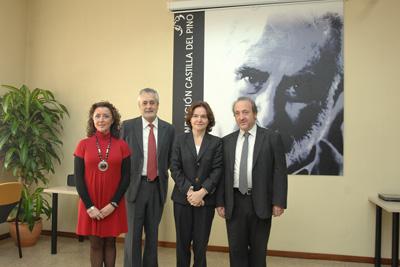 Mª Isabel Baena, José Antonio Griñán, Celia Fernández y José Manuel Aranda.