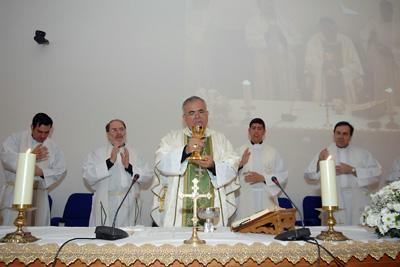 Misa oficiada por el obispo de Córdoba.