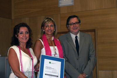 María Isabel Baena, Lourdes Agredano y Antonio Torres.