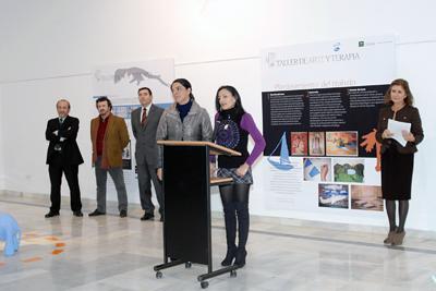 Participación de una de las autoras de la exposición.