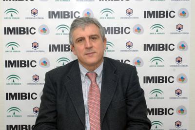 José López Barneo antes de su intervención en el IMIBIC.