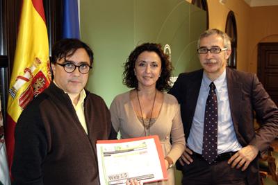 Pedro Muñoz, María Isabel Baena y Joan Carles March.