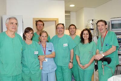 Profesionales de la Unidad de la Mujer con los especialistas europeos.
