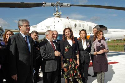 Inauguración del helipuerto en el hospital.