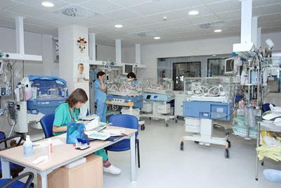 Instalaciones de la nueva unidad de neonatología