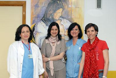 Algunas de las matronas que han desarrollado el trabajo premiado